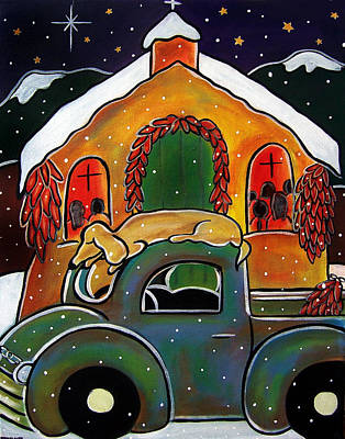 Painting - Christmas Mass by Jan Oliver-Schultz