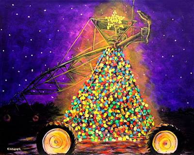 Painting - Christmas Mississippi Delta Style by Karl Wagner
