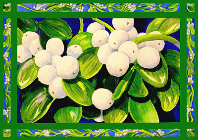 Painting - Christmas Mistletoe by Janis Grau