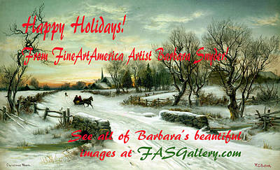 Photograph - Christmas Morn Christmas Card by WC Bauer Floyd Snyder