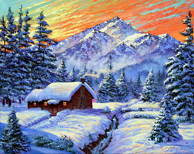 Christmas Morning Original by David Lloyd Glover