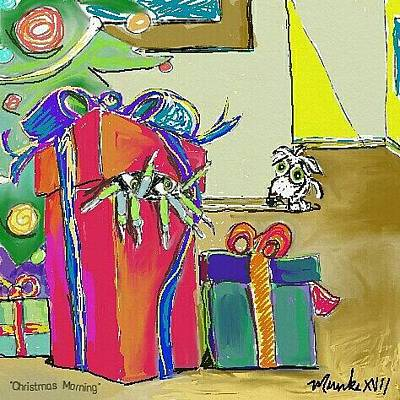 Drawing - Christmas Morning by John Stillmunks