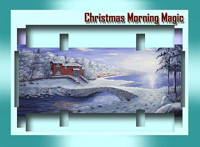 Painting - Christmas Morning Magic by Saeed Hojjati