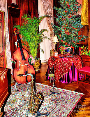 Photograph - Christmas Music Room by Nick Zelinsky
