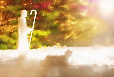 Manger Mixed Media - Christmas Nativity - Temple Square Salt Lake City Utah by Steve Ohlsen