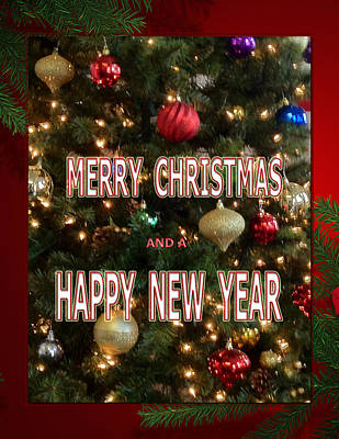 Christmas New Year Card Art Print by Debra     Vatalaro