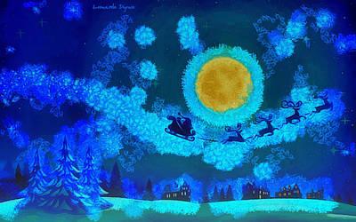 Vladimir Putin Digital Art - Christmas Night 150 - Da by Leonardo Digenio