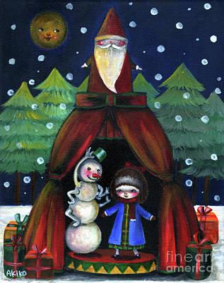 Painting - Christmas Night by Akiko Okabe