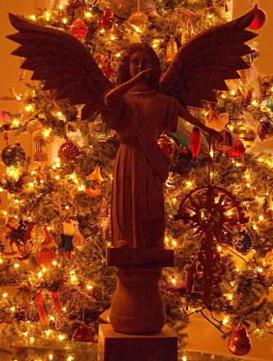 Photograph - Christmas Night Angel by Anne Cameron Cutri