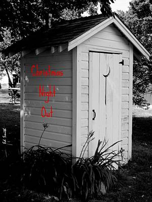 Water Closet Digital Art - Christmas Night Out by Ed Smith