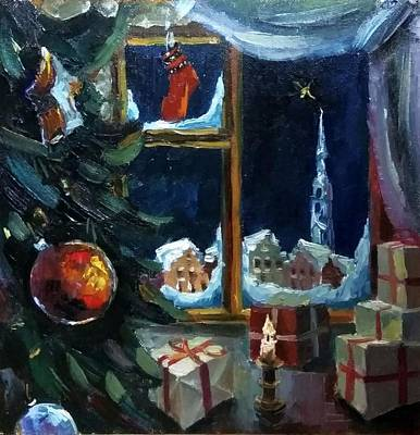 Painting - Christmas by Nina Silaeva