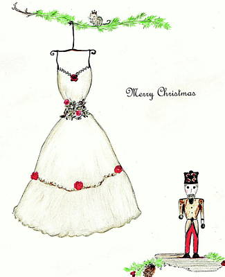 Drawing - Christmas Nutcracker by Christine Corretti