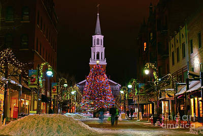 Photograph - Christmas On Church Street by Scenic Vermont Photography