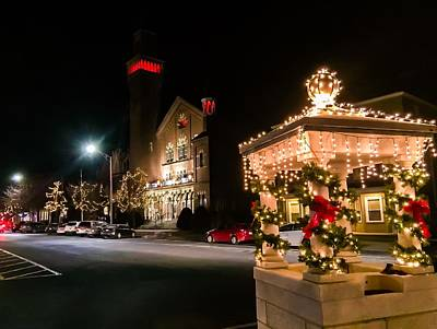 Photograph - Christmas On Main Street Easthampton by Sven Kielhorn