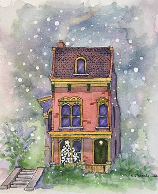 Painting - Christmas On North Hill by Rebecca Matthews