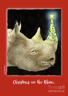 Rhino Painting - Christmas On The Rhine... by Will Bullas