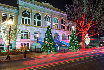 Photograph - Christmas On The Square - Downtown Bentonville  by Gregory Ballos