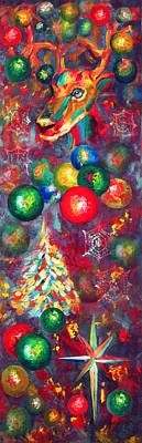 Christmas Orbs Art Print by Peter Bonk