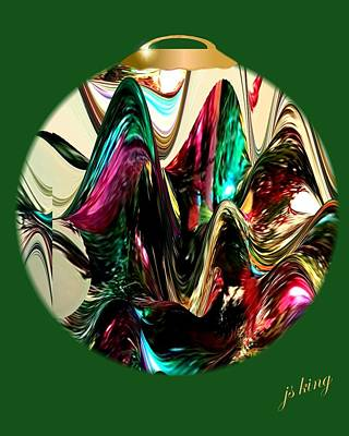 Christmas Ornament 2015 Art Print by Jacquie King