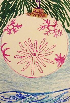 Snow Flake Drawing - Christmas Ornament Card  by Ishy Christine Degyansky
