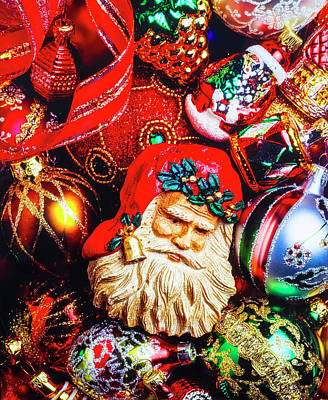 Kringle Photograph - Christmas Ornament Still Life by Garry Gay