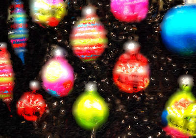 Manger Scene Digital Art - Christmas Ornaments Abstract One by Morgan Carter