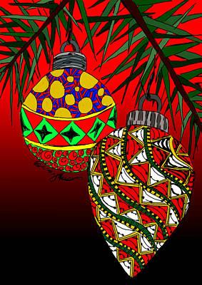 Ipad Painting - Christmas Ornaments by Becky Herrera