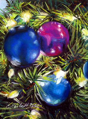 Pastel - Christmas Ornaments by Carole Haslock