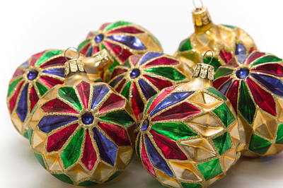 Christmas Ornaments Art Print by Louise Heusinkveld