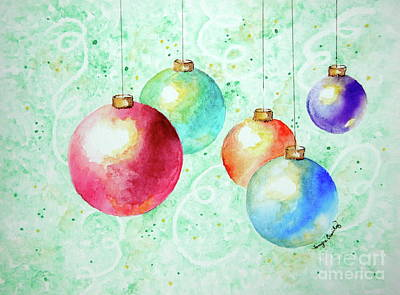 Painting - Christmas Ornaments by Tamyra Crossley