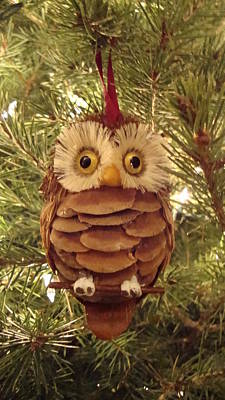 Christmas Owl Art Print by Nikita Zabowski