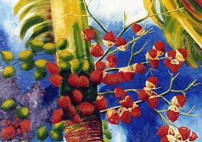 Christmas Palm Art Print by Lisa Boyd