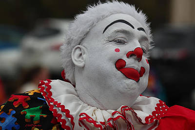 Photograph - Christmas Parade Clown by EricaMaxine Price