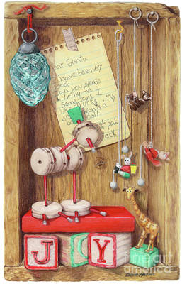 Tinker Toy Painting - Christmas Past by Diane Harm