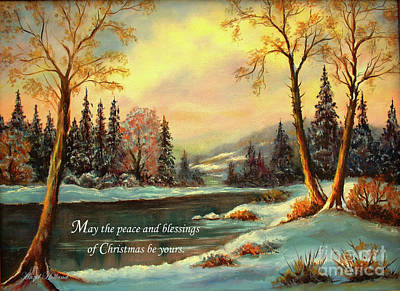 Painting - Christmas Peace  by Hazel Holland