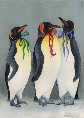 Painting - Christmas Penguinsii by Anne Havard