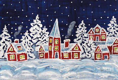 Painting - Christmas Picture by Irina Afonskaya