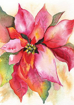Painting - Christmas Poinsettia by Marsha Woods