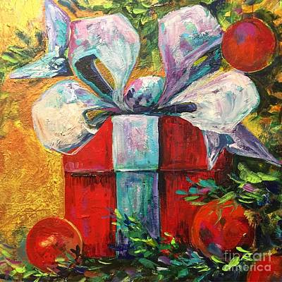 Painting - Christmas Present by Karen Ahuja