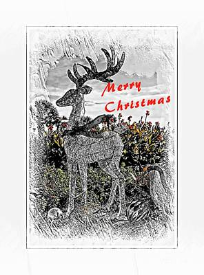 Mixed Media - Christmas Reindeer by Bob Pardue