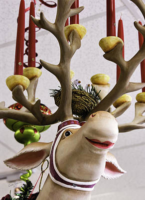 Art Print featuring the photograph Christmas Reindeer Games by Betty Denise