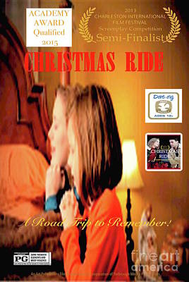 Digital Art - Christmas Ride Family Poster by Karen Francis