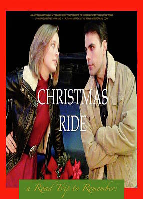 Digital Art - Christmas Ride Poster 16 by Karen Francis