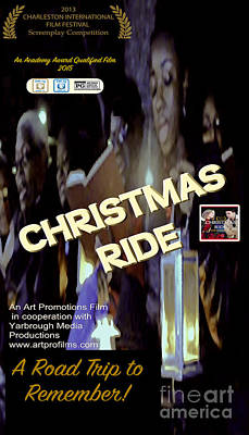 Digital Art - Christmas Ride Poster With Choir by Karen Francis