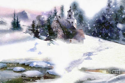 Painting - Christmas Road by Mo T