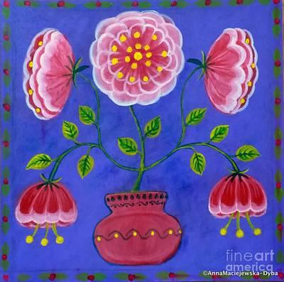 Painting - Christmas Rose by Anna Folkartanna Maciejewska-Dyba