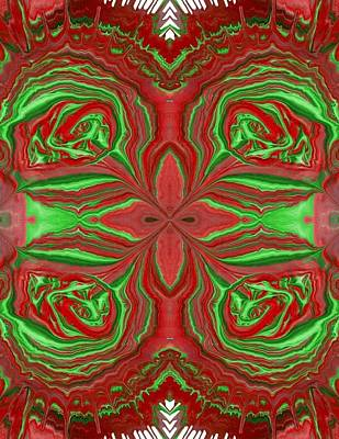 Painting - Christmas Rose In Green by Lori Kingston
