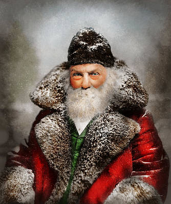Photograph - Christmas - Santa - Saint Nicholas 1895 by Mike Savad