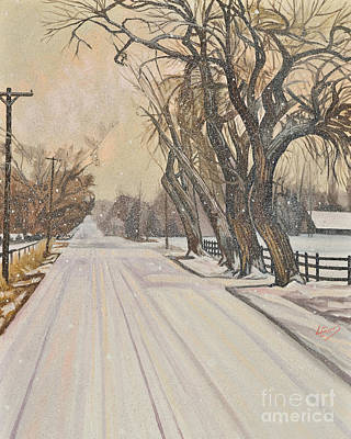 Painting - Christmas Scene - Montrose, Co - Lwmco by Lewis Williams OFS