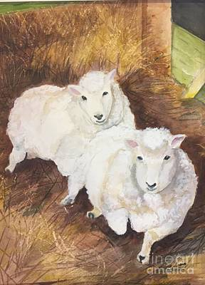 Painting - Christmas Sheep by Lucia Grilletto
